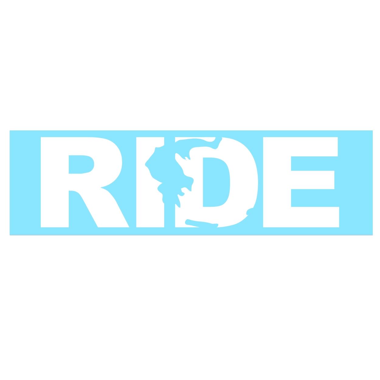 Ride Greece Classic Decal (White Logo)