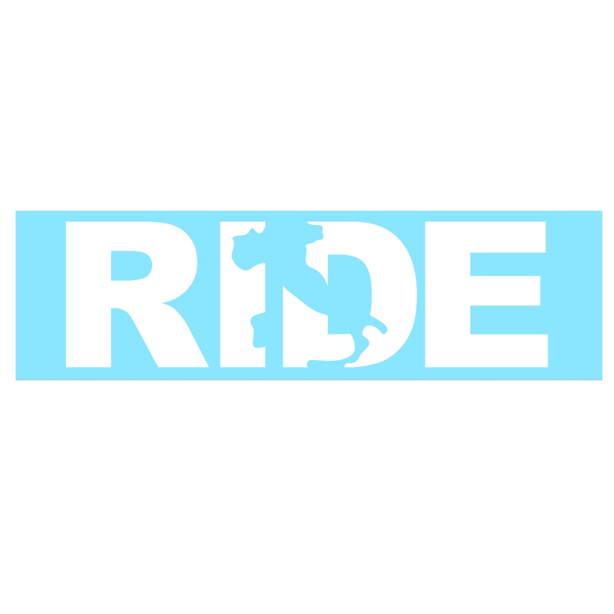 Ride Italy Classic Decal (White Logo)