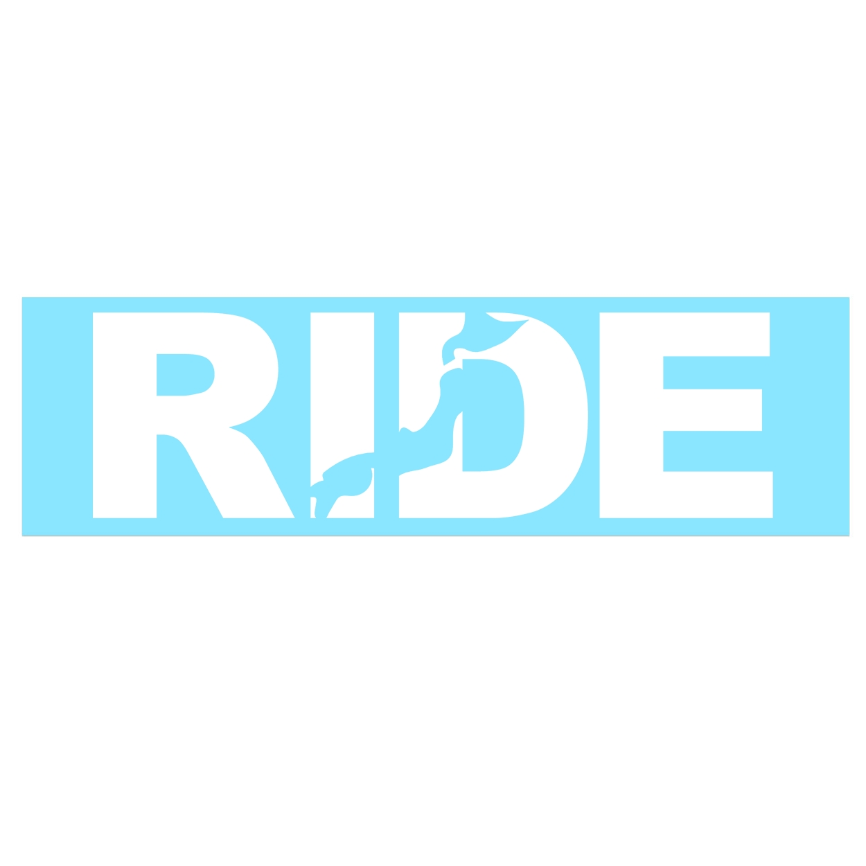 Ride Japan Classic Decal (White Logo)
