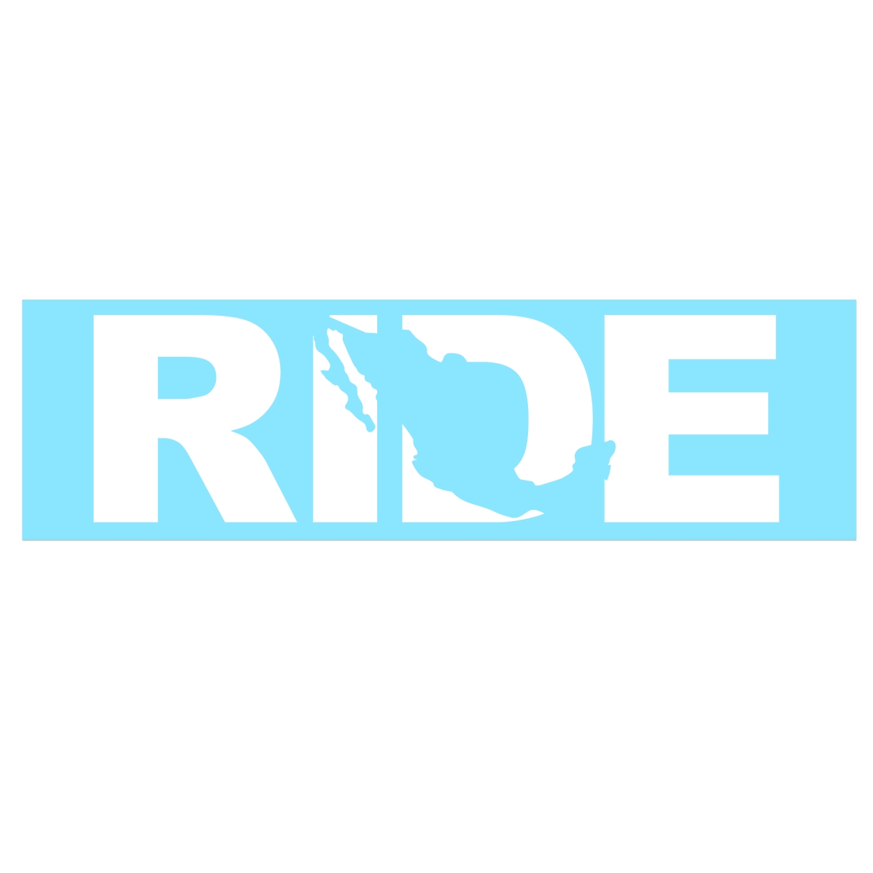 Ride Mexico Classic Decal (White Logo)