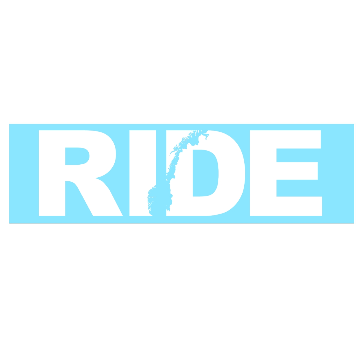 Ride Norway Classic Decal (White Logo)