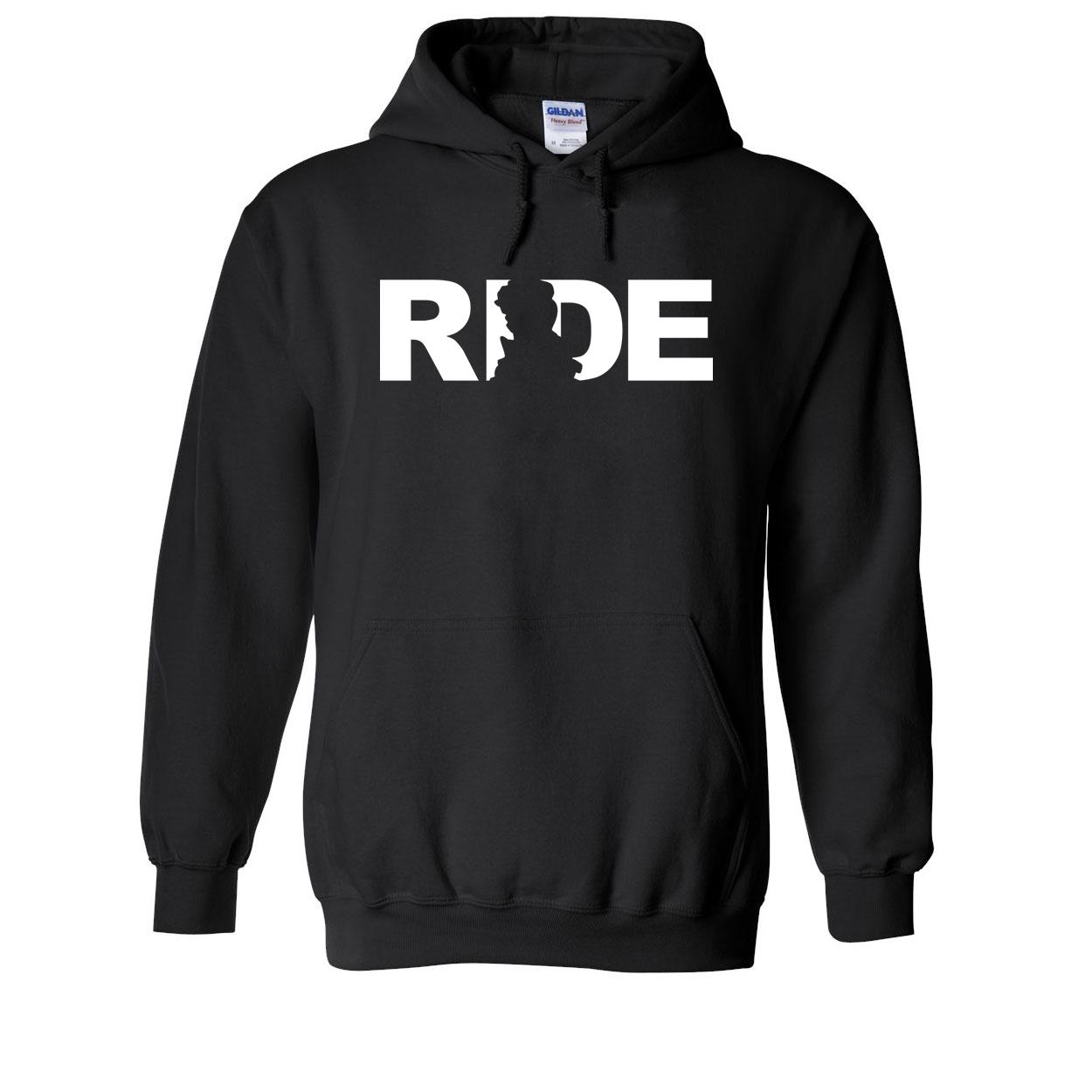 Ride Scotland Classic Sweatshirt Black (White Logo)