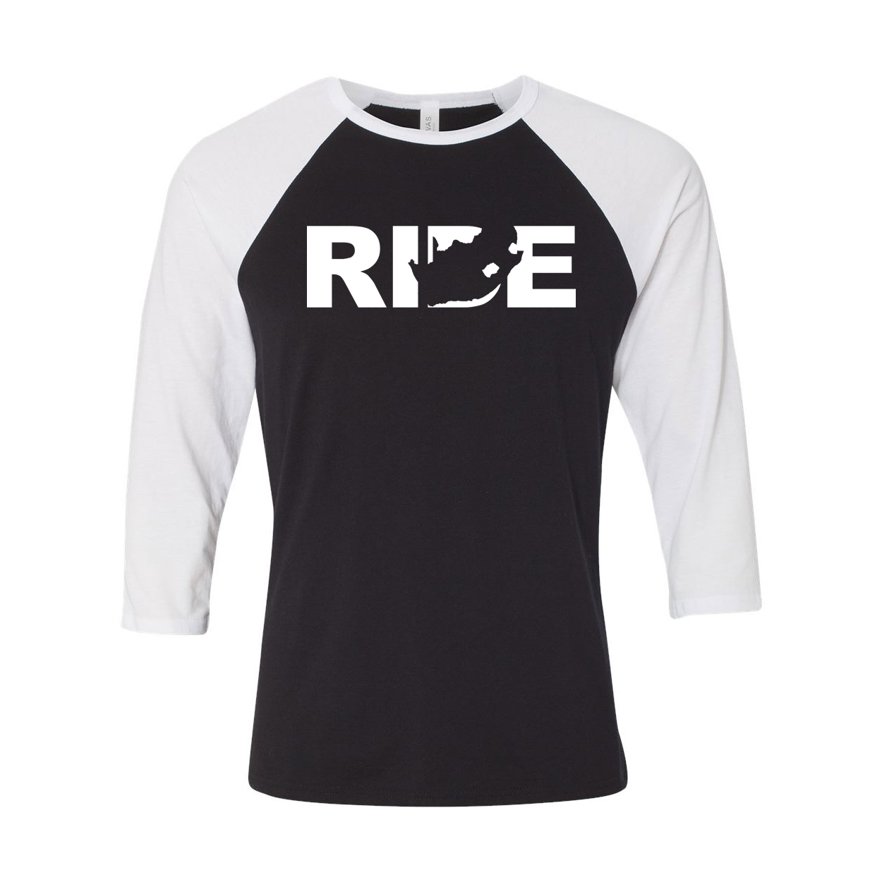 Ride South Africa Classic Raglan Shirt Black/White (White Logo)