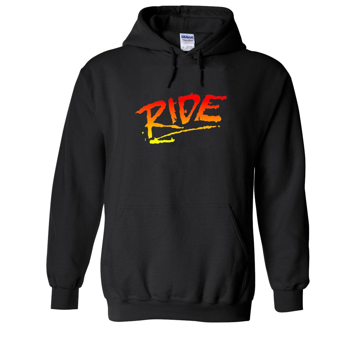 Ride RAD Logo Classic Sweatshirt Black (White Logo)