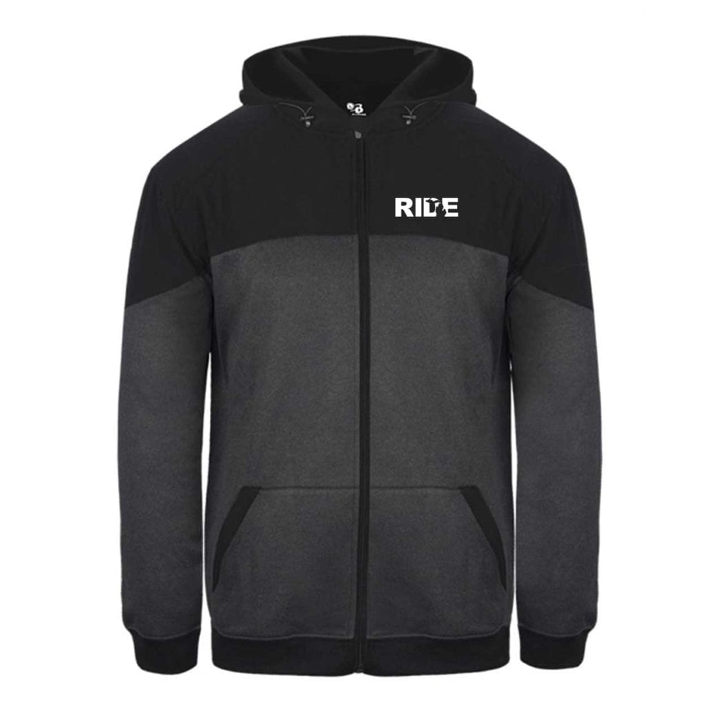 Ride Michigan Classic Vindicator Jacket Carbon Heather/Black (White Logo)