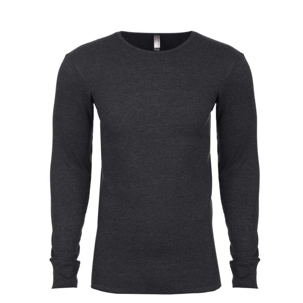 Ride New Jersey Long Sleeve Thermal Shirt Heather Charcoal (White Logo)