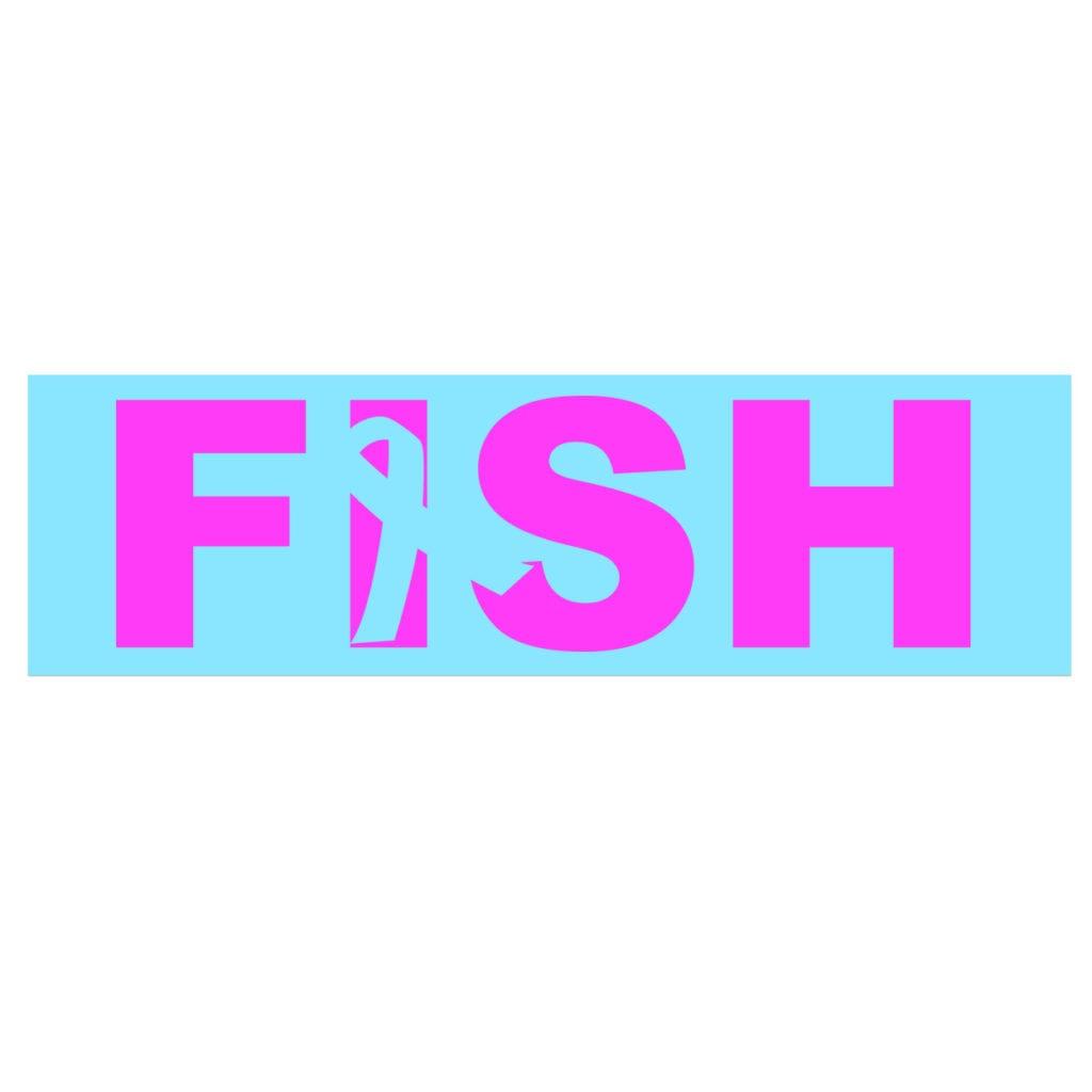 Fish Ribbon Logo Classic Decal (White Logo)