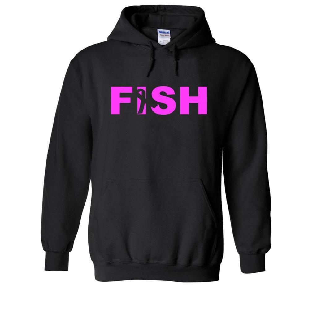 Fish Ribbon Logo Classic Sweatshirt Black (White Logo)