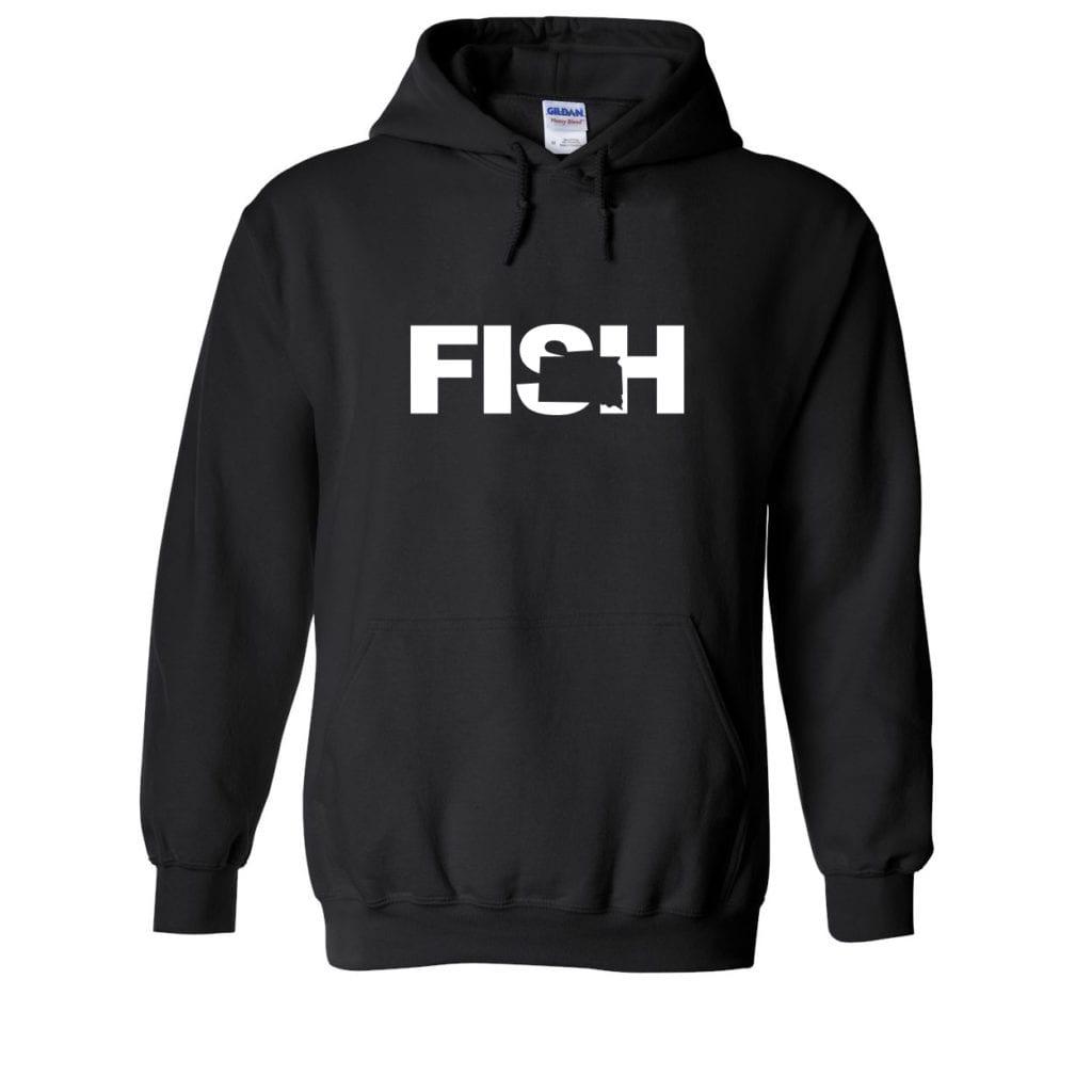Fish South Dakota Classic Sweatshirt Black (White Logo)