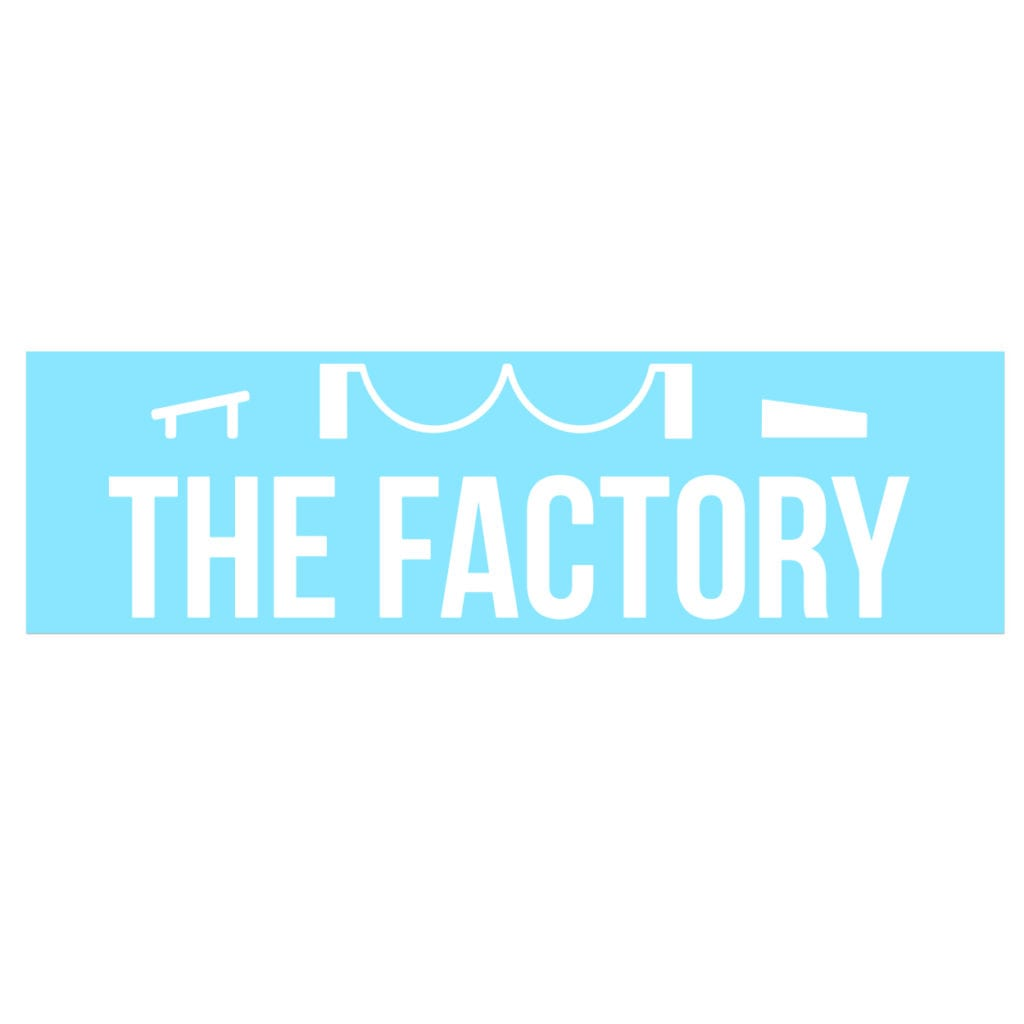 Ride The Factory Logo Classic Decal (White Logo)