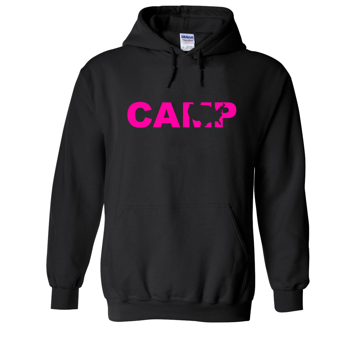 Camp United States Classic Sweatshirt Black (Pink Logo)
