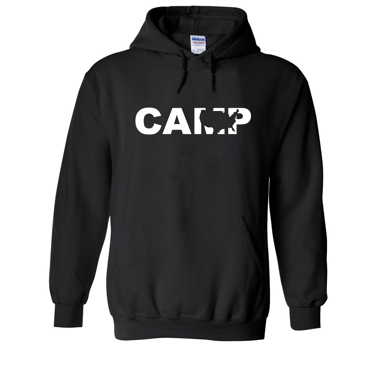 Camp United States Classic Sweatshirt Black (White Logo)