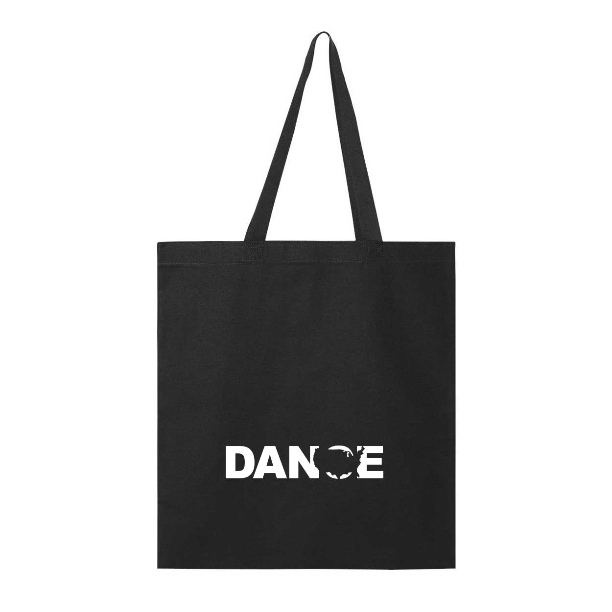 Dance United States Classic Canvas Tote Bag Black (White Logo)