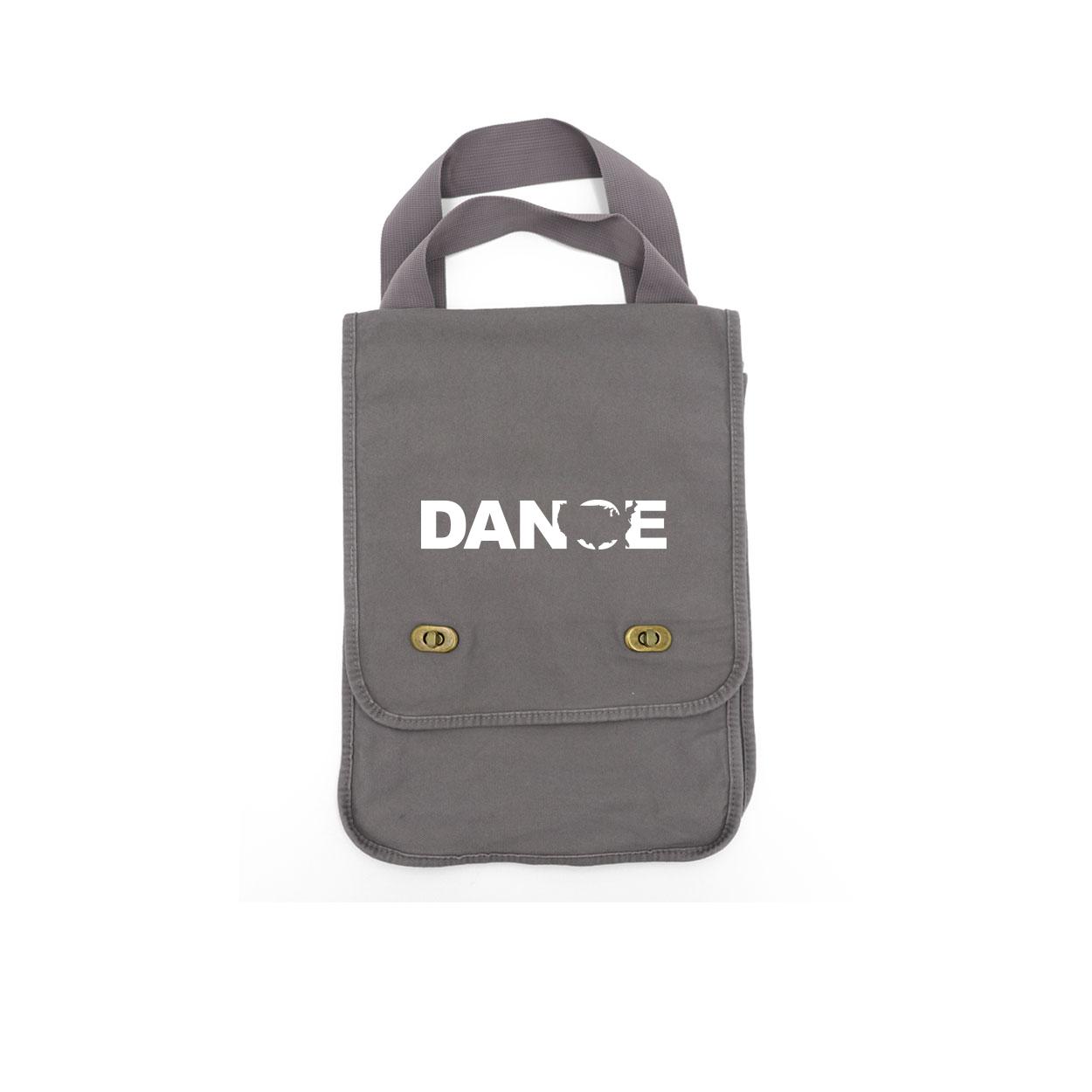 Dance United States Classic Canvas Field Bag Smoke Gray (White Logo)