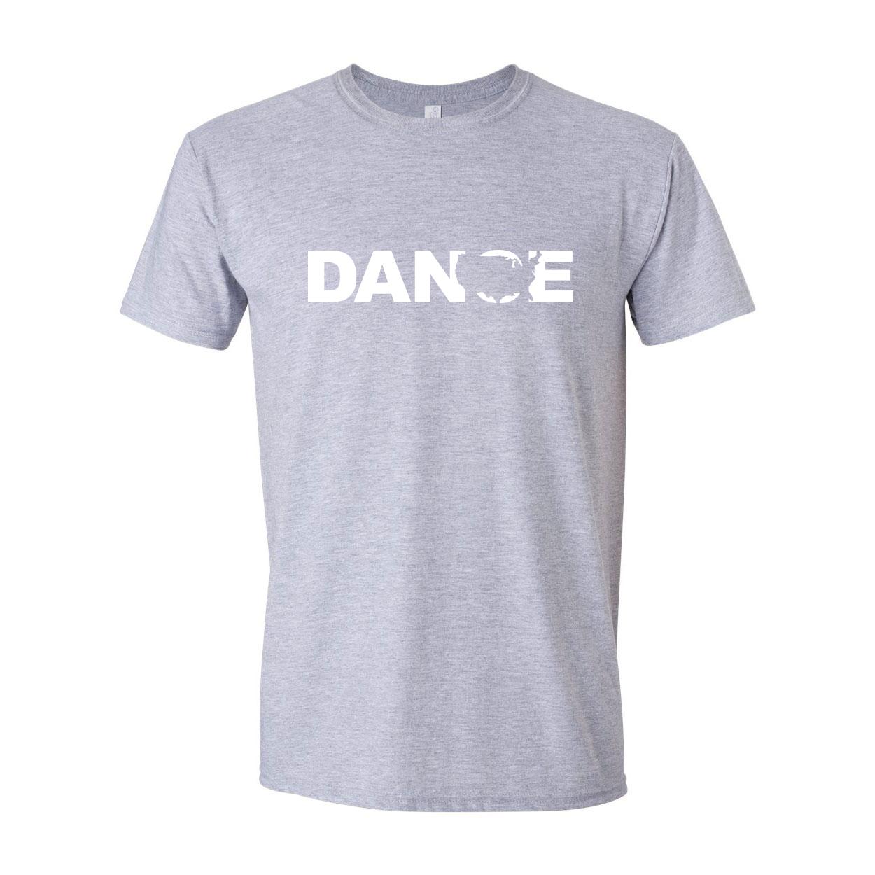 Dance United States Classic T-Shirt Sport Gray (White Logo)