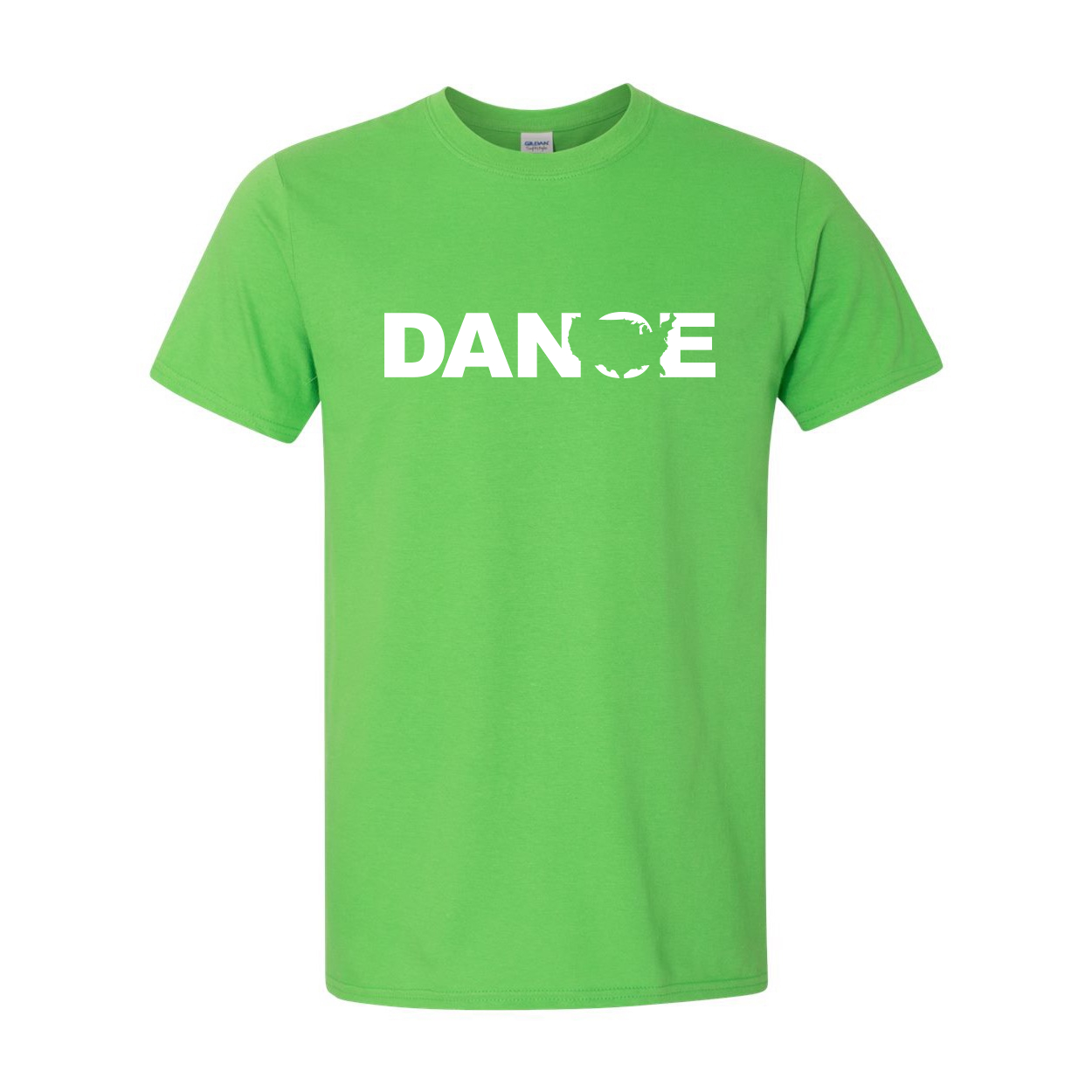 Dance United States Classic T-Shirt Electric Green (White Logo)