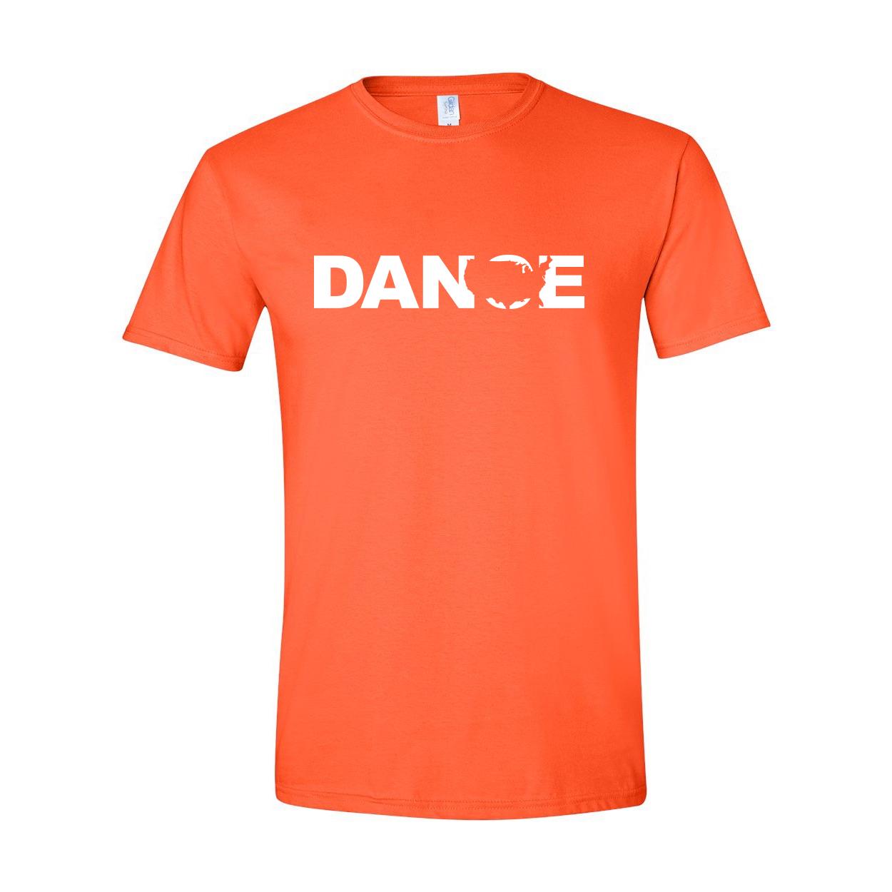Dance United States Classic T-Shirt Orange (White Logo)