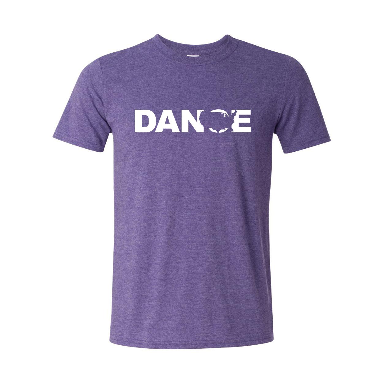 Dance United States Classic T-Shirt Heather Purple (White Logo)