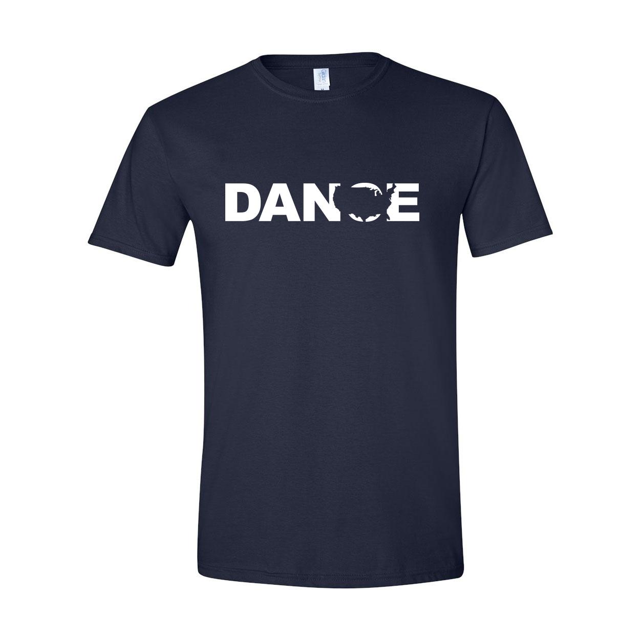 Dance United States Classic T-Shirt Navy (White Logo)