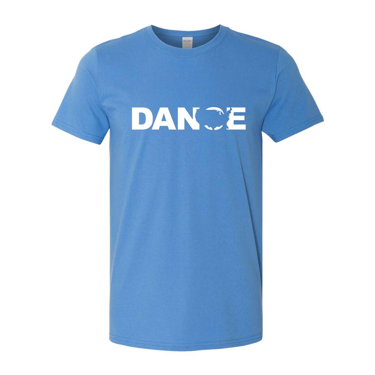 Dance United States Classic T-Shirt Iris Blue (White Logo)