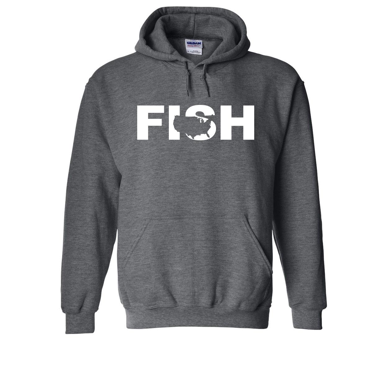 Fish United States Classic Sweatshirt Dark Heather Gray (White Logo)