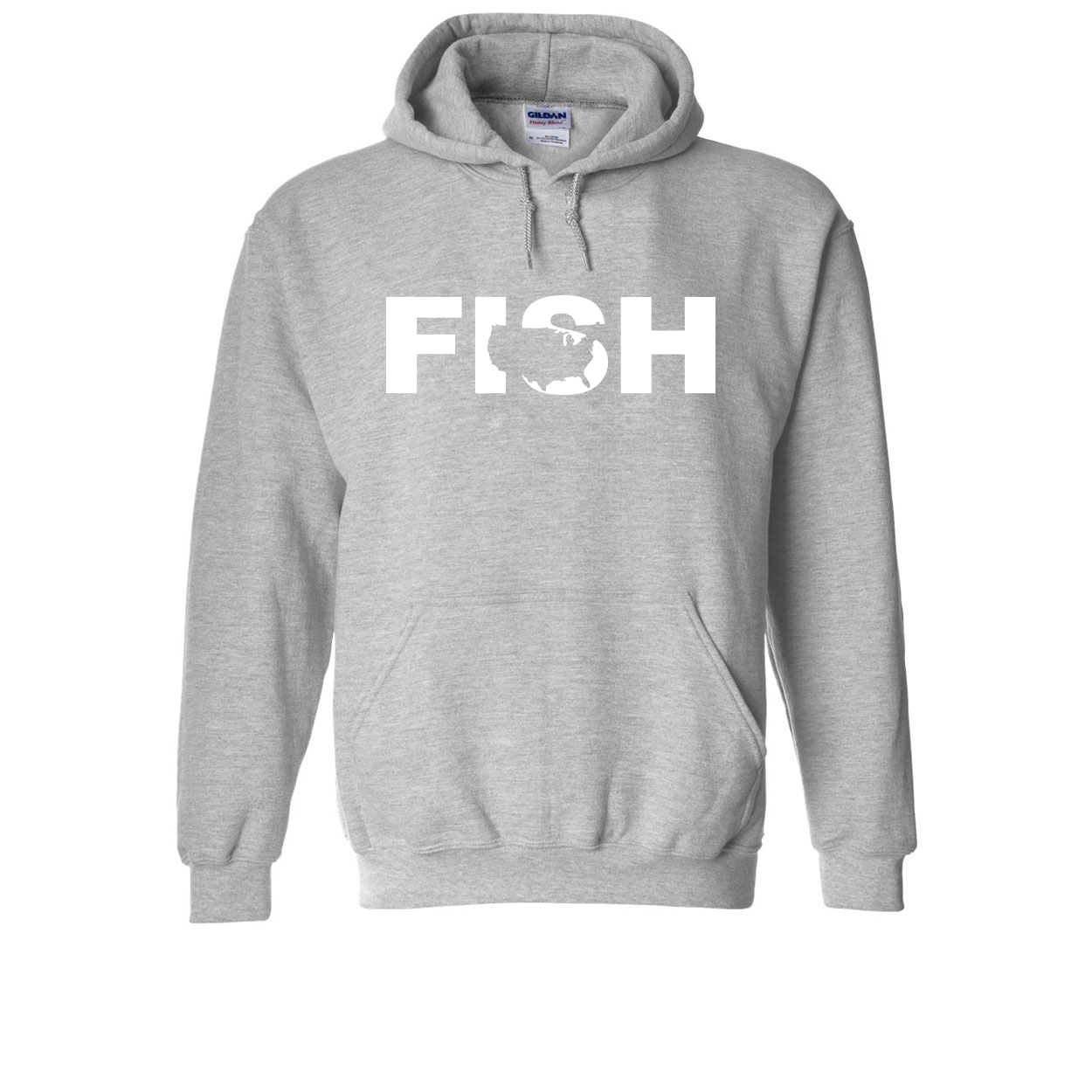 Fish United States Classic Sweatshirt Sport Gray (White Logo)