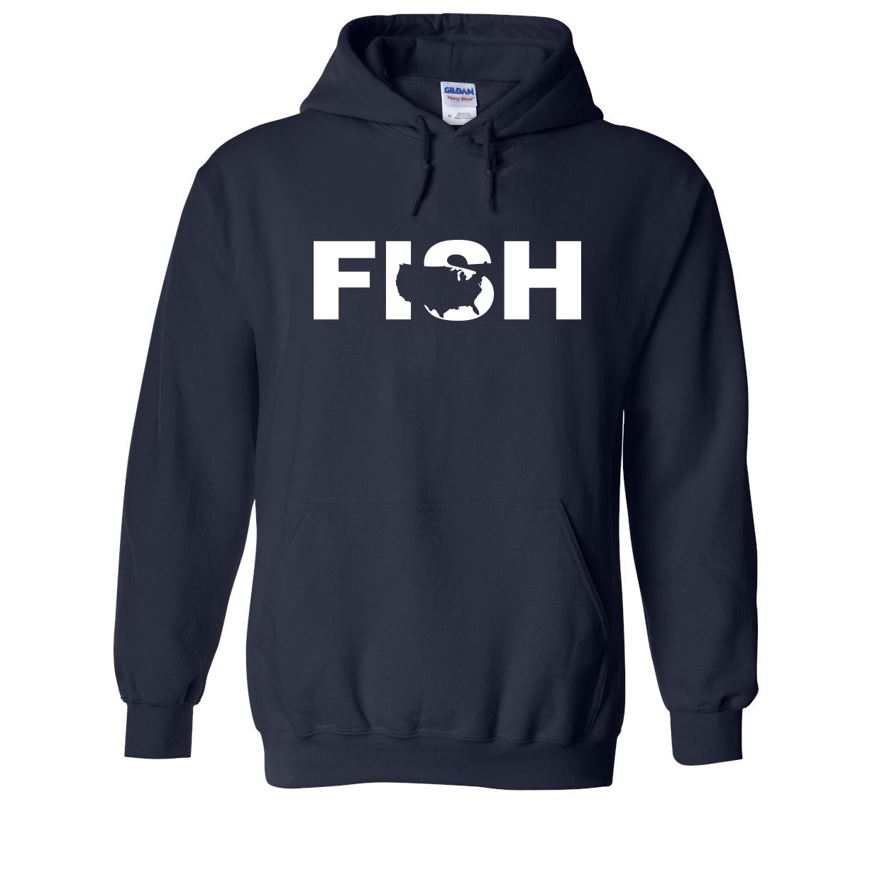 Fish United States Classic Sweatshirt Navy (White Logo)