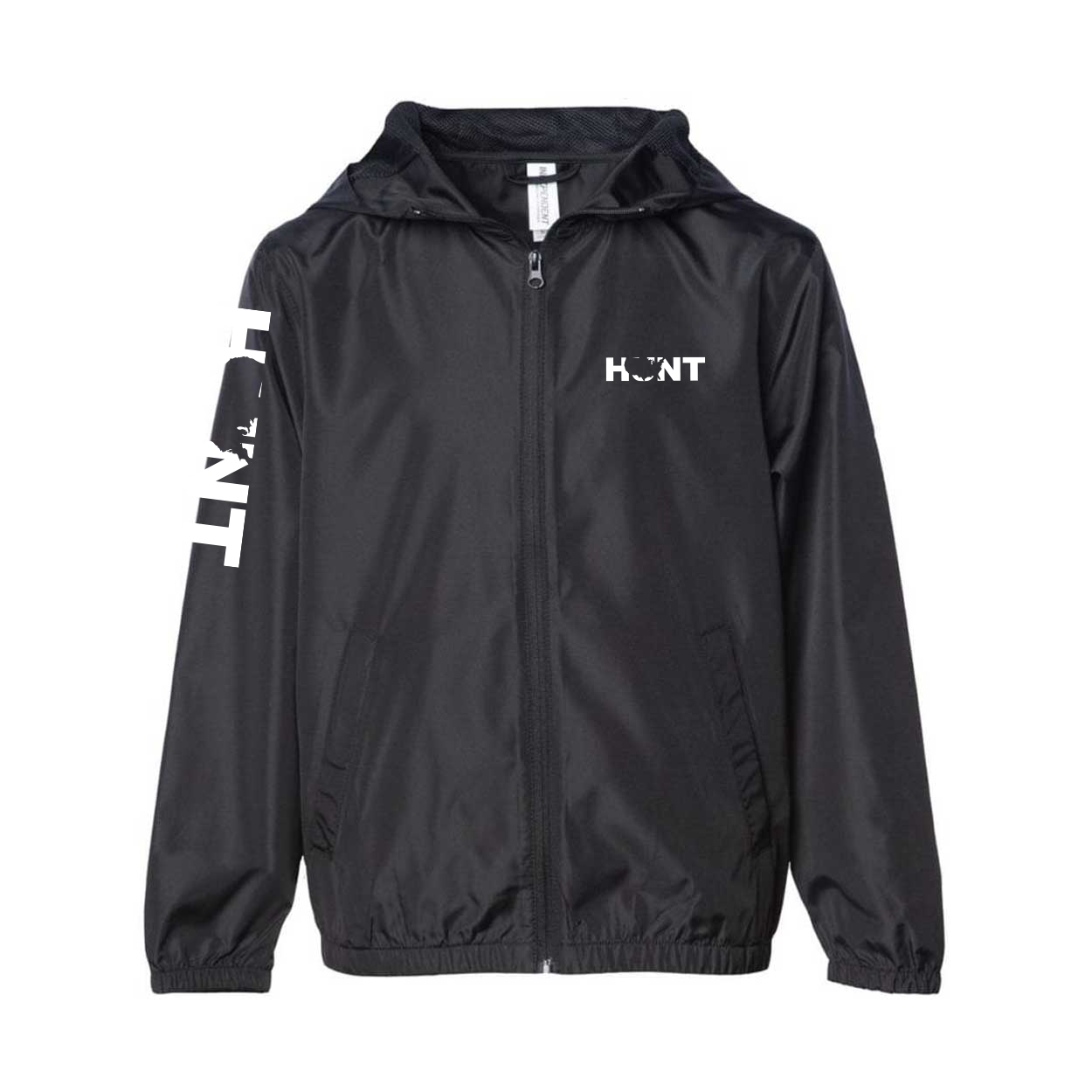 Hunt United States Classic Youth Lightweight Windbreaker Black (White Logo)