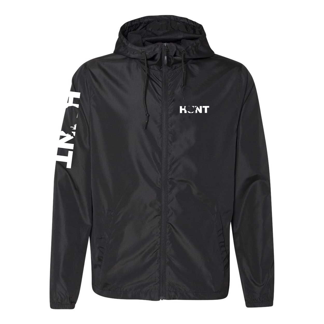 Hunt United States Classic Lightweight Windbreaker Black (White Logo)