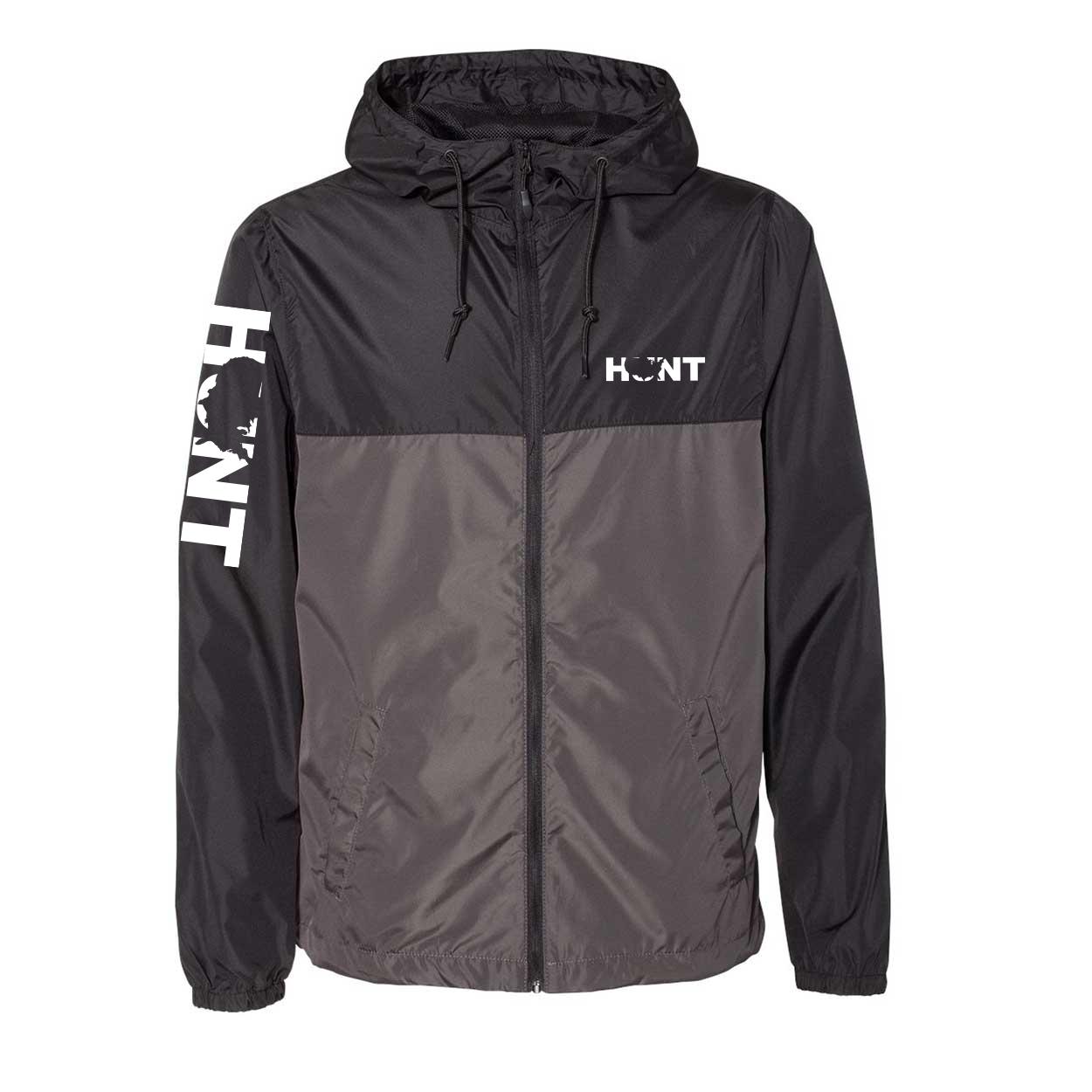 Hunt United States Classic Lightweight Windbreaker Black/Graphite (White Logo)