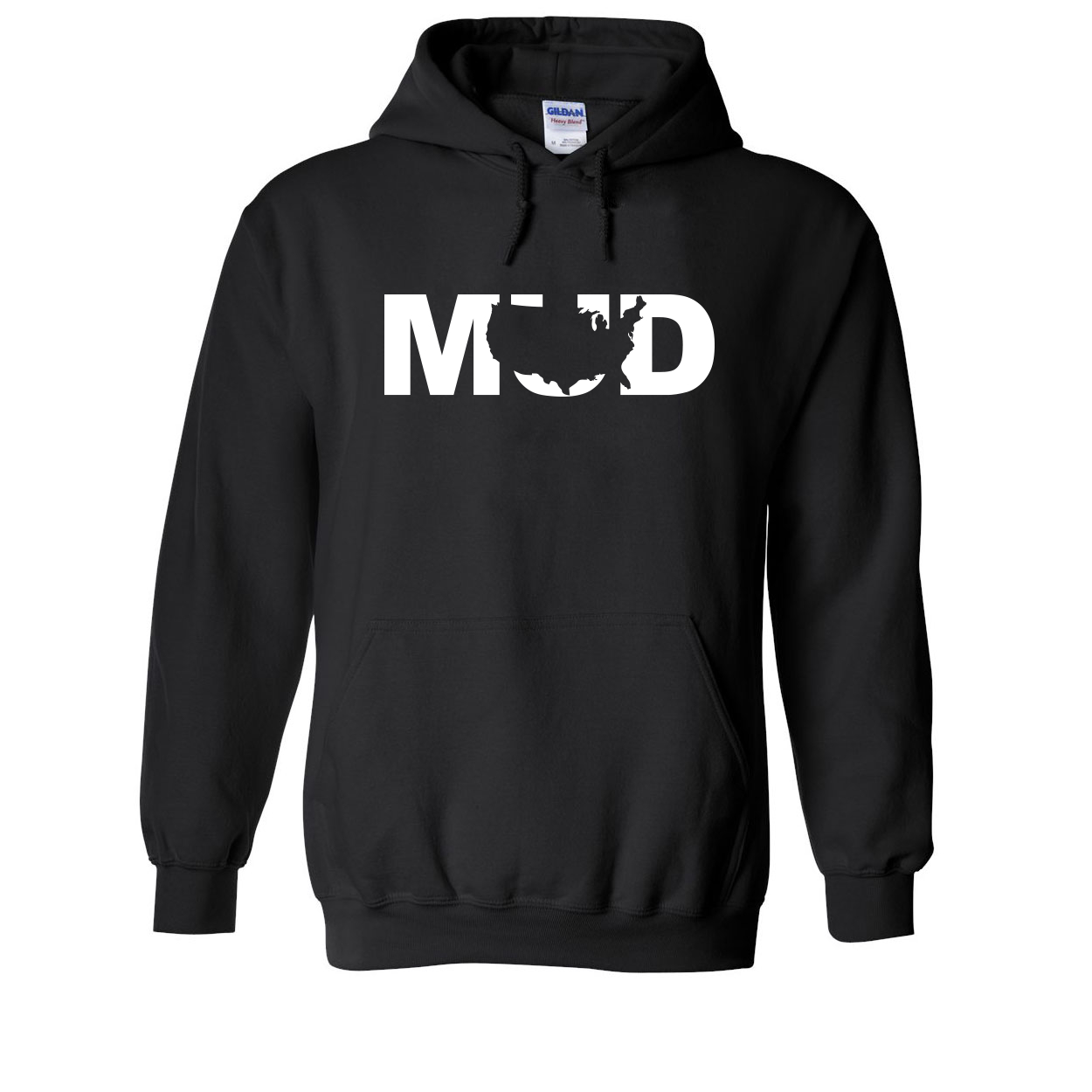 Mud United States Classic Sweatshirt Black (White Logo)