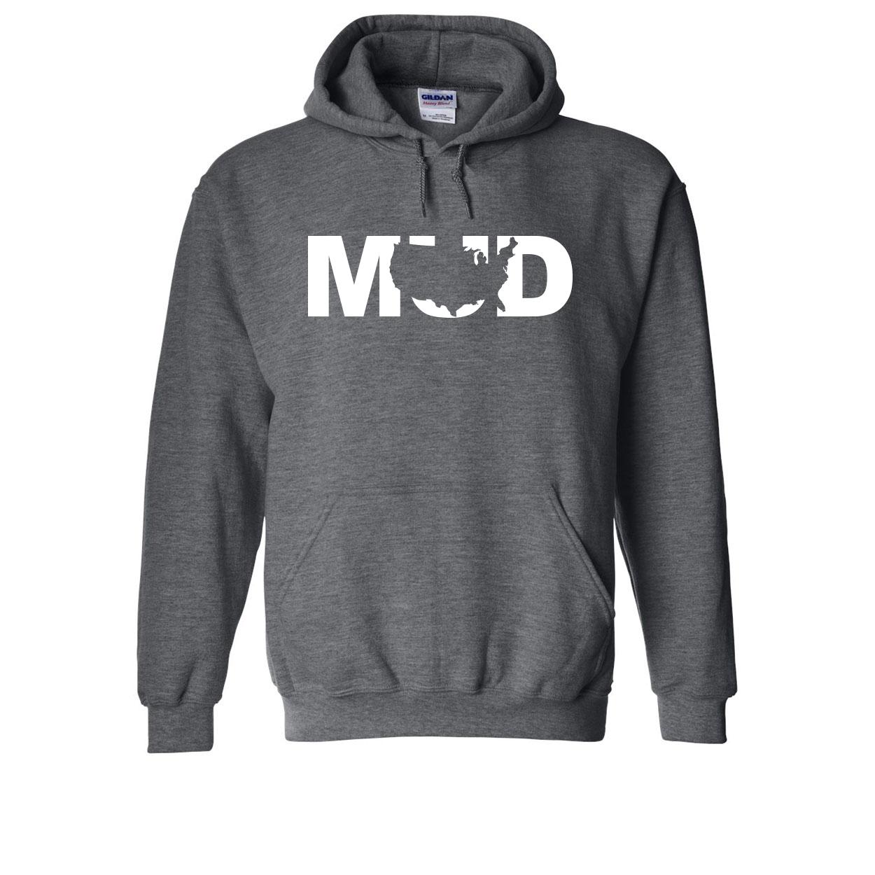 Mud United States Classic Sweatshirt Dark Heather Gray (White Logo)