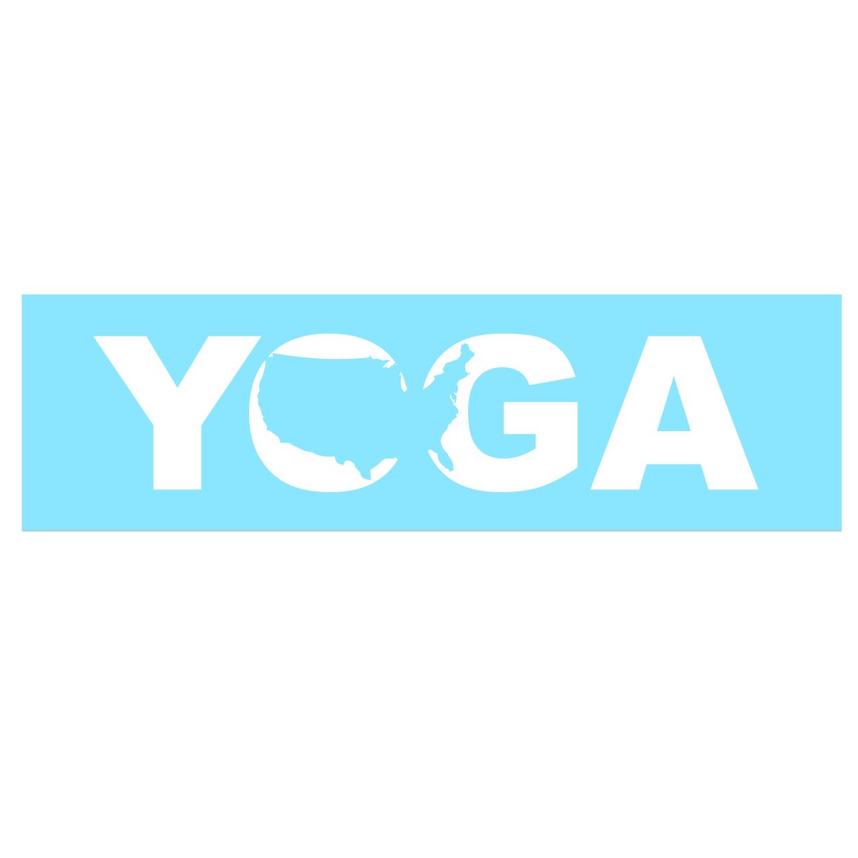 Yoga United States Classic Decal (White Logo)