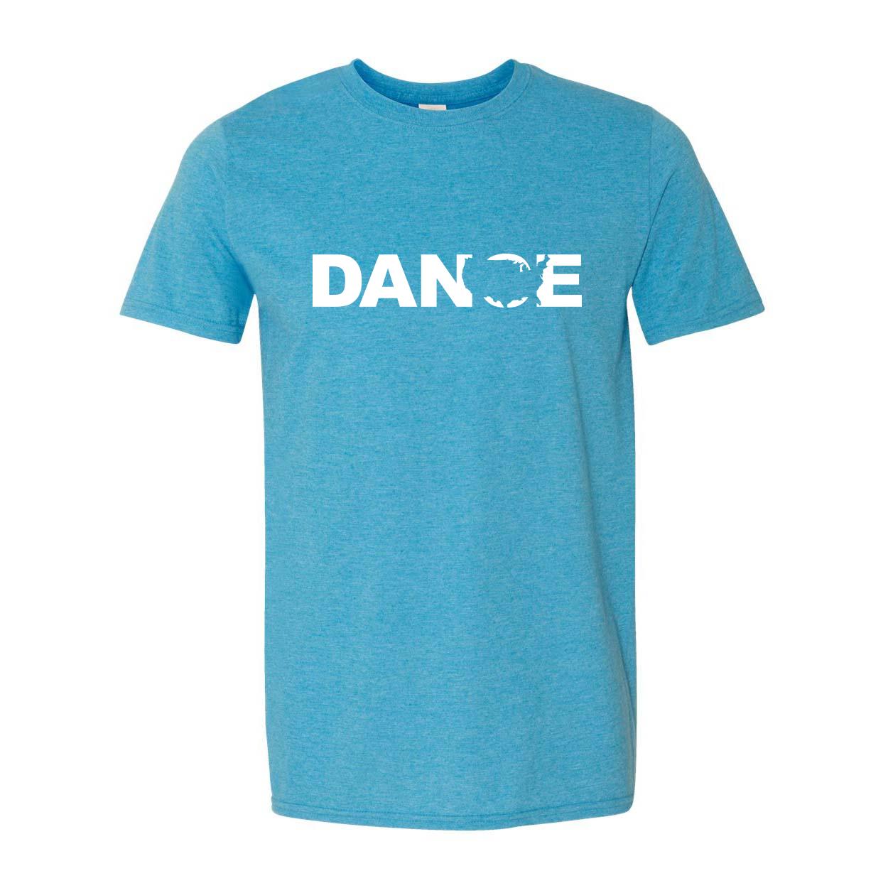 Dance United States Classic T-Shirt Heather Sapphire Blue (White Logo)