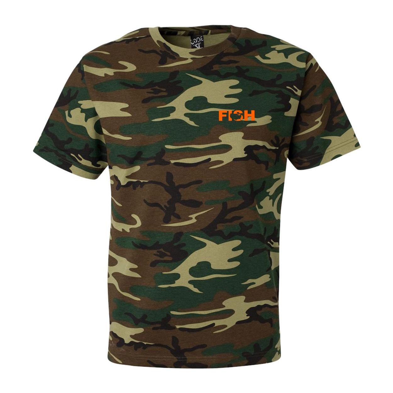 Fish United States Night Out Premium T-Shirt Camo (Orange Logo)