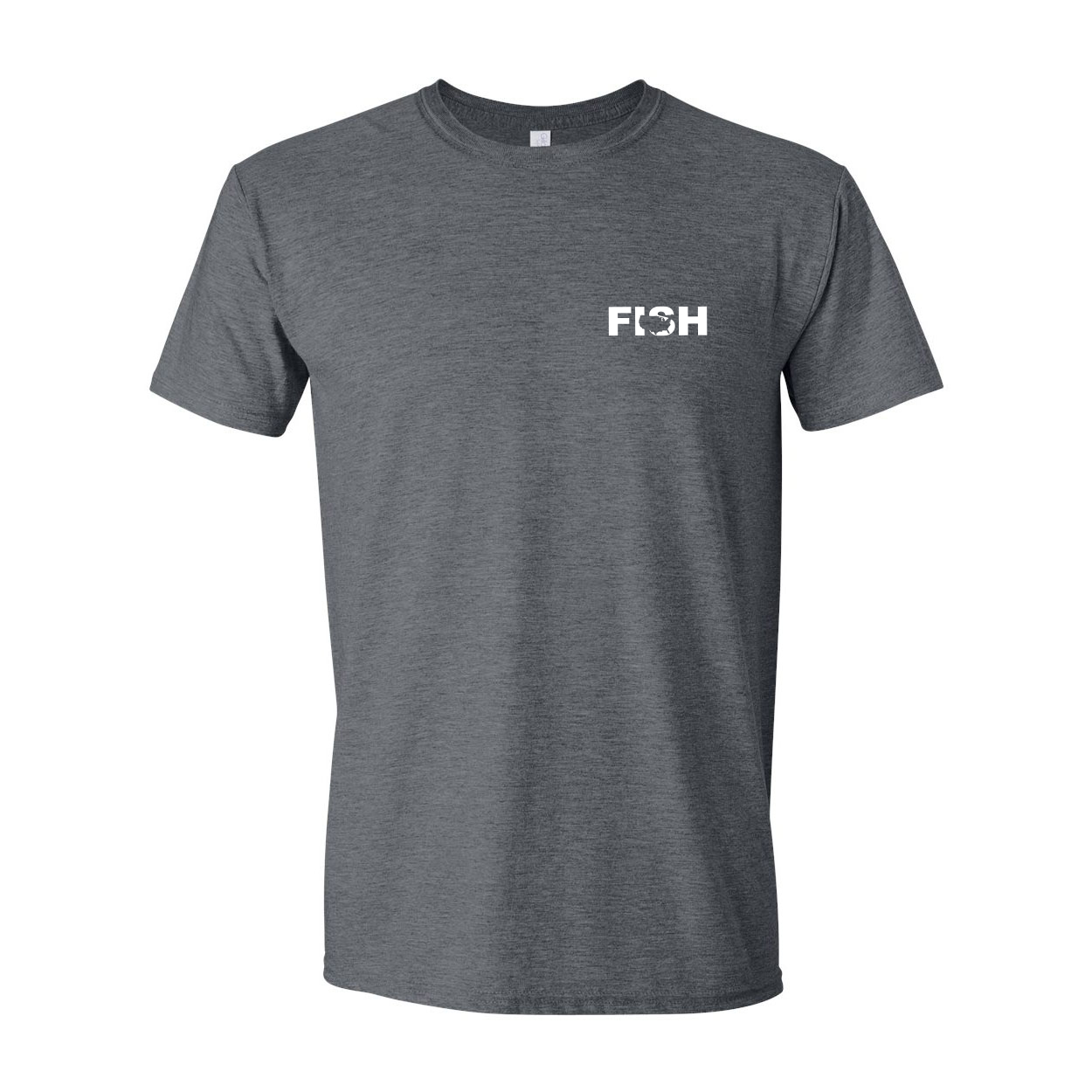Fish United States Night Out T-Shirt Dark Heather Gray (White Logo)