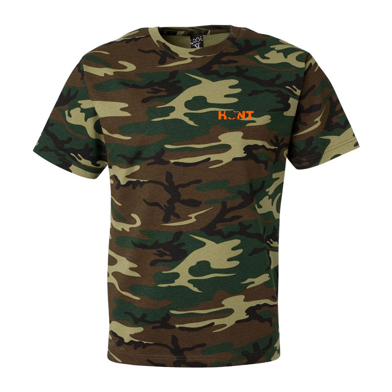 Hunt United States Night Out Premium T-Shirt Camo (Orange Logo)