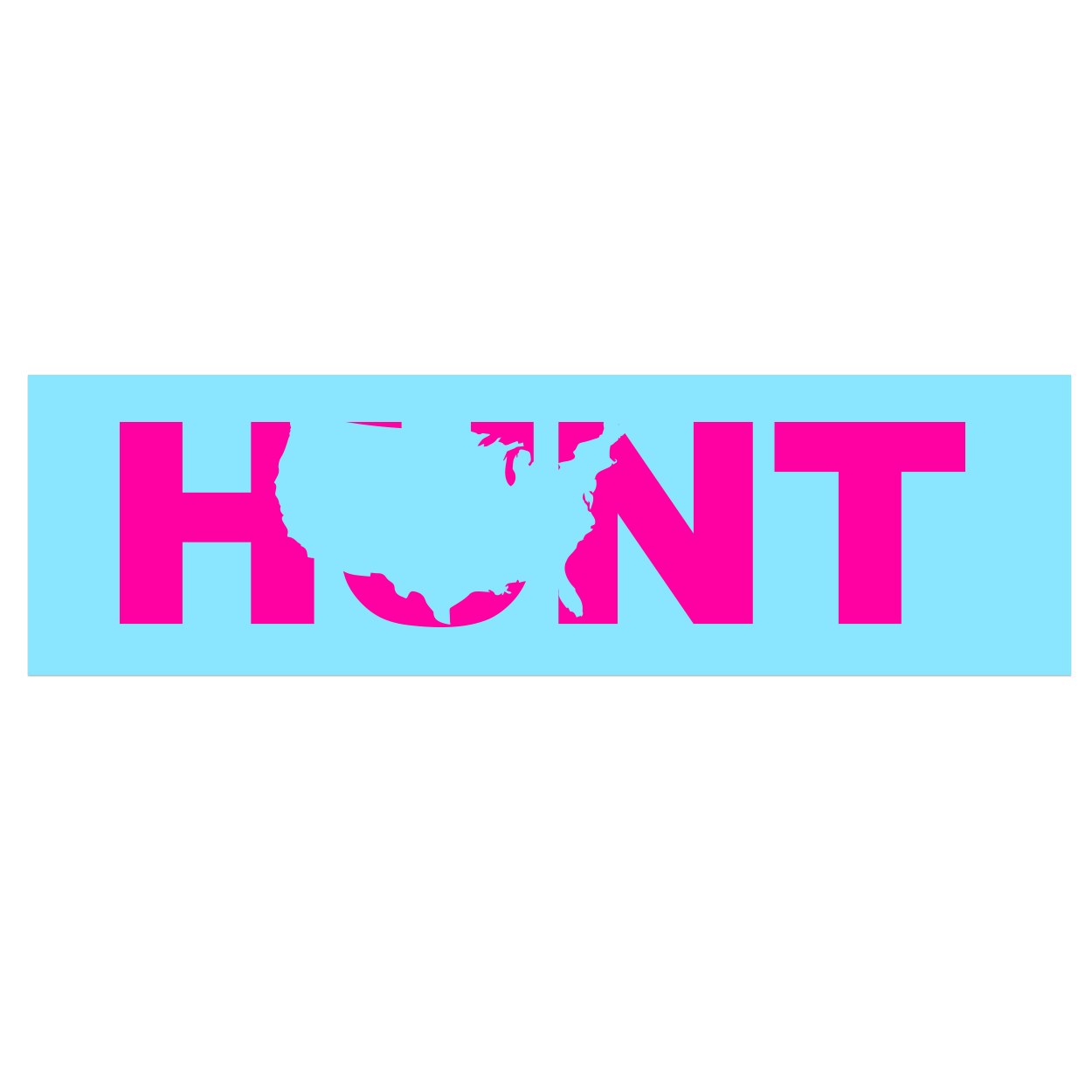 Hunt United States Classic Decal (Pink Logo)