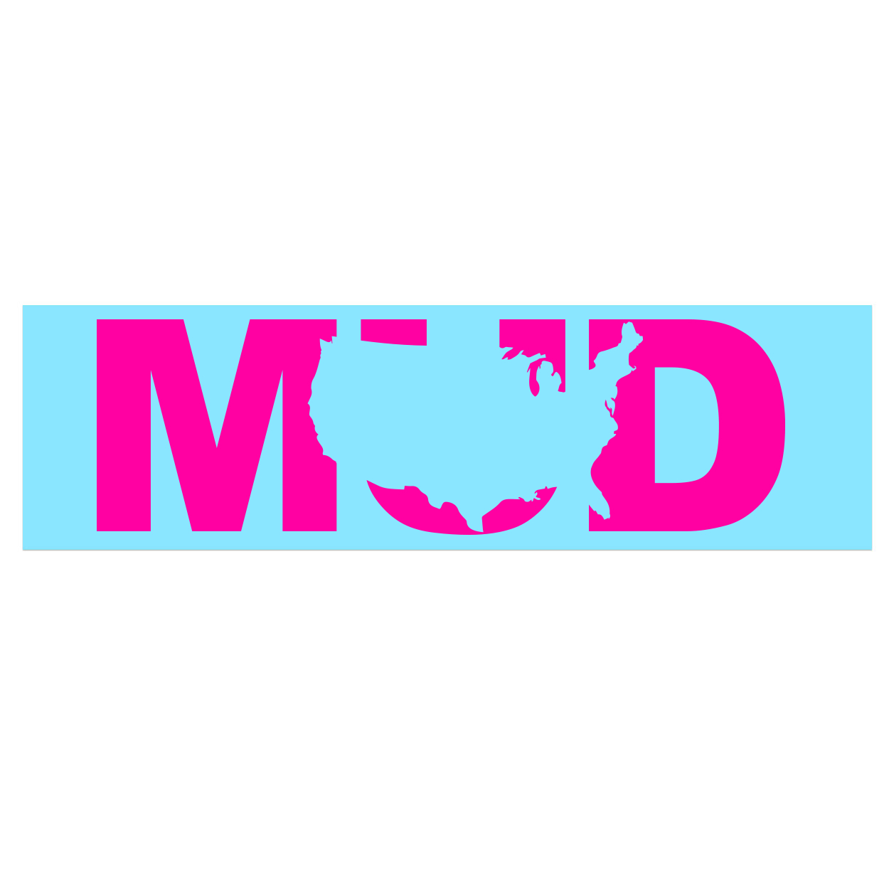 Mud United States Classic Decal (Pink Logo)