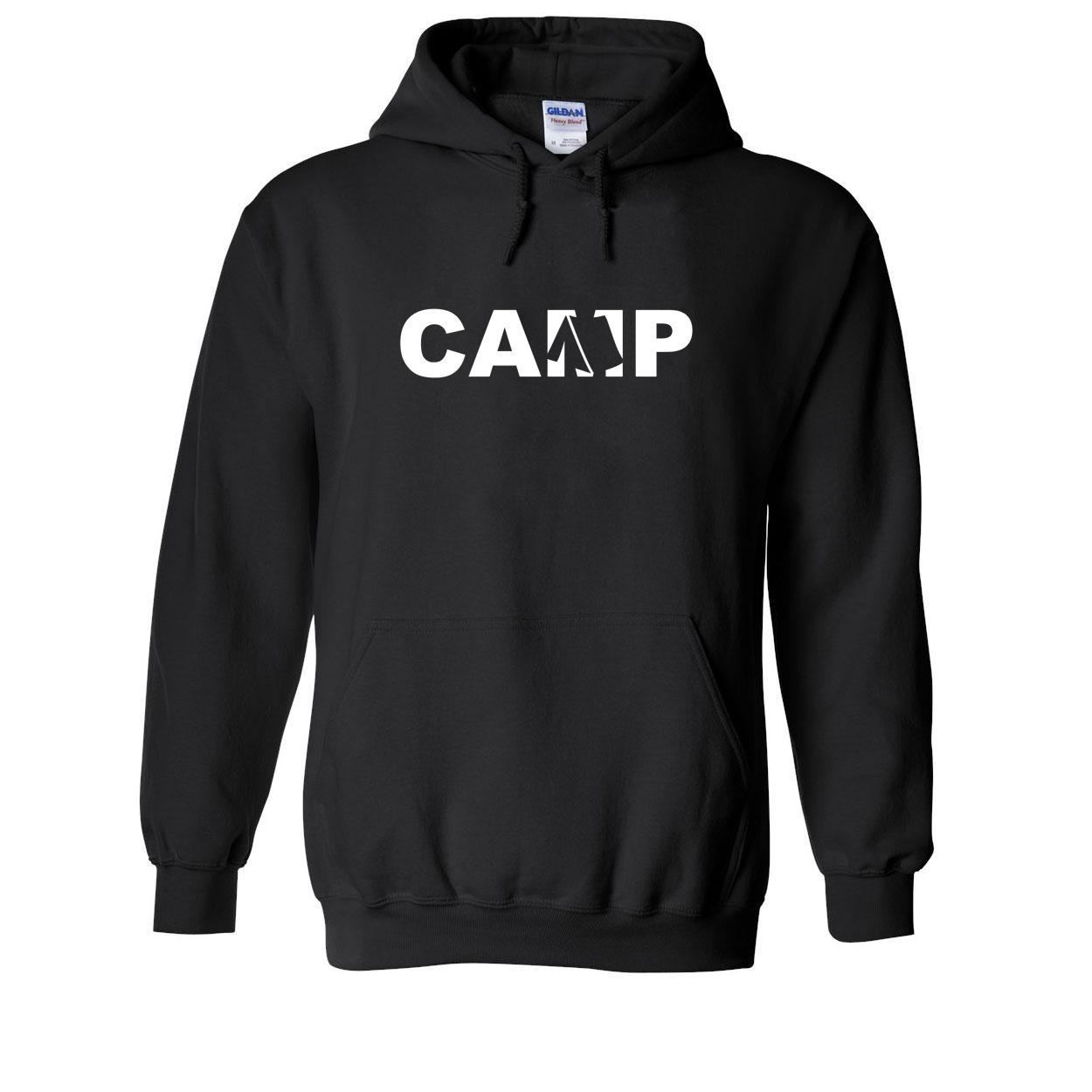 Camp Tent Logo Classic Sweatshirt Black (White Logo)