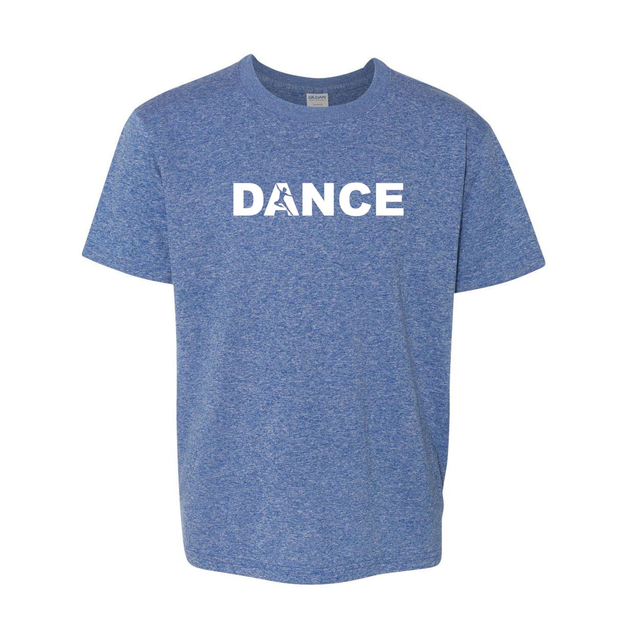 Dance Silhouette Logo Classic Youth T-Shirt Blue (White Logo)