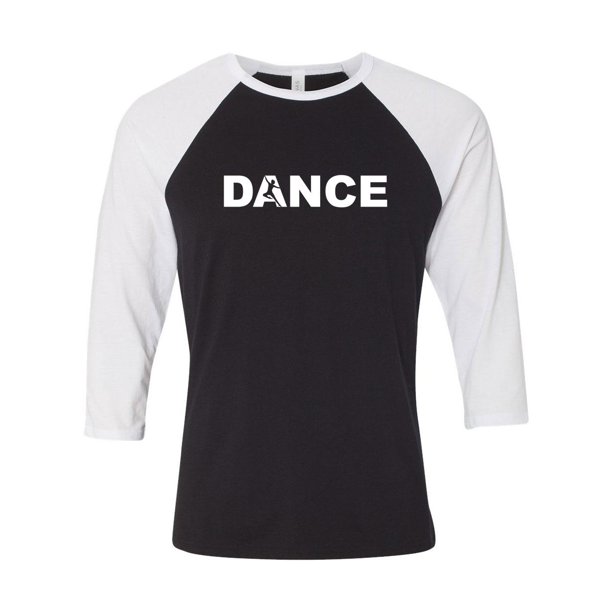Dance Silhouette Logo Classic Raglan Shirt Black/White (White Logo)