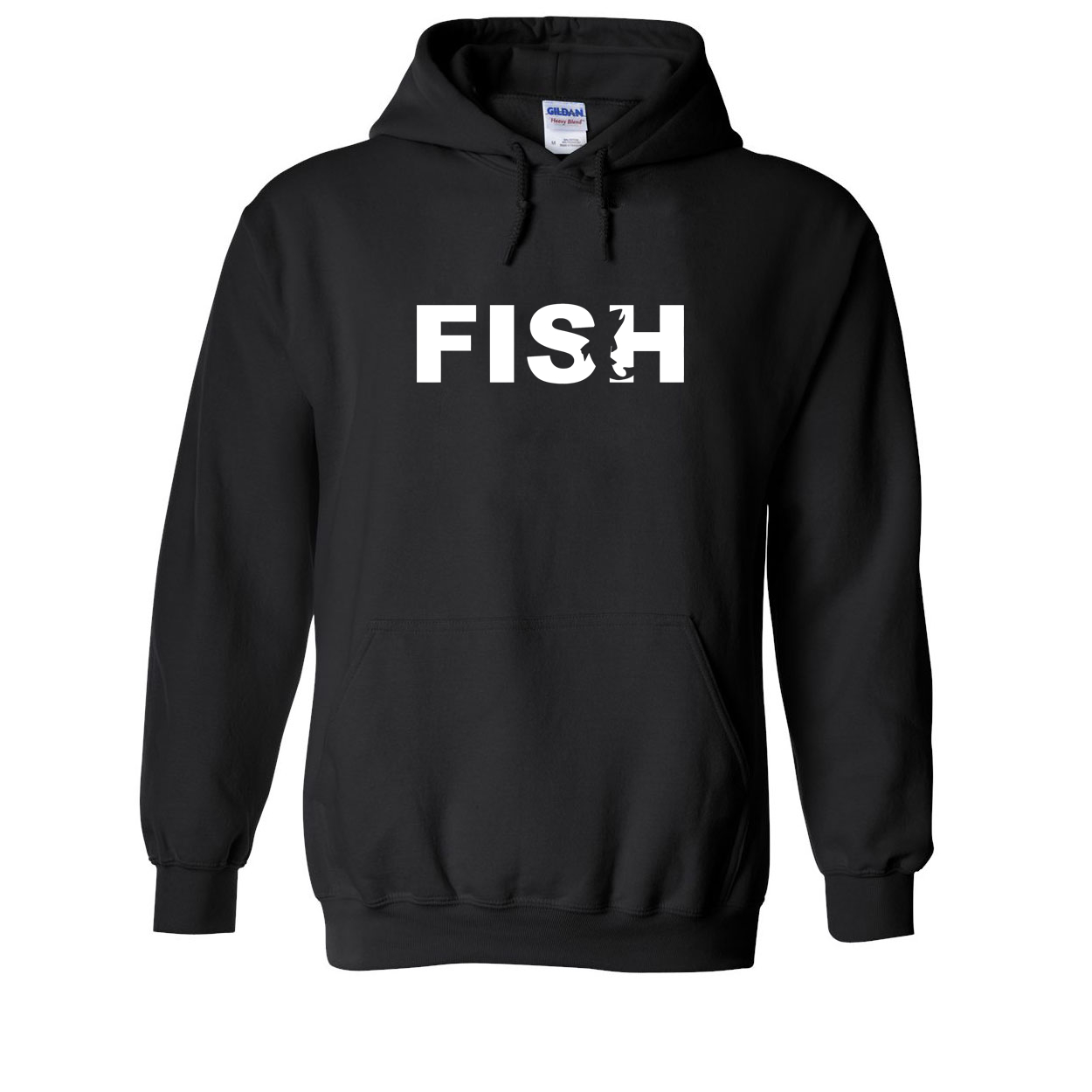 Fish Catch Logo Classic Sweatshirt Black (White Logo)