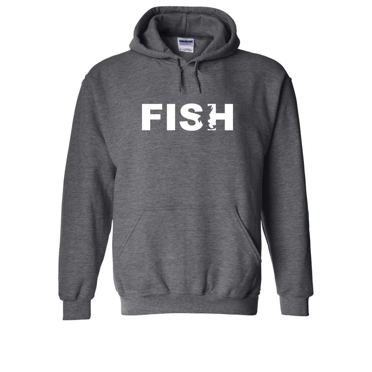 Fish Catch Logo Classic Sweatshirt Dark Heather Gray (White Logo)