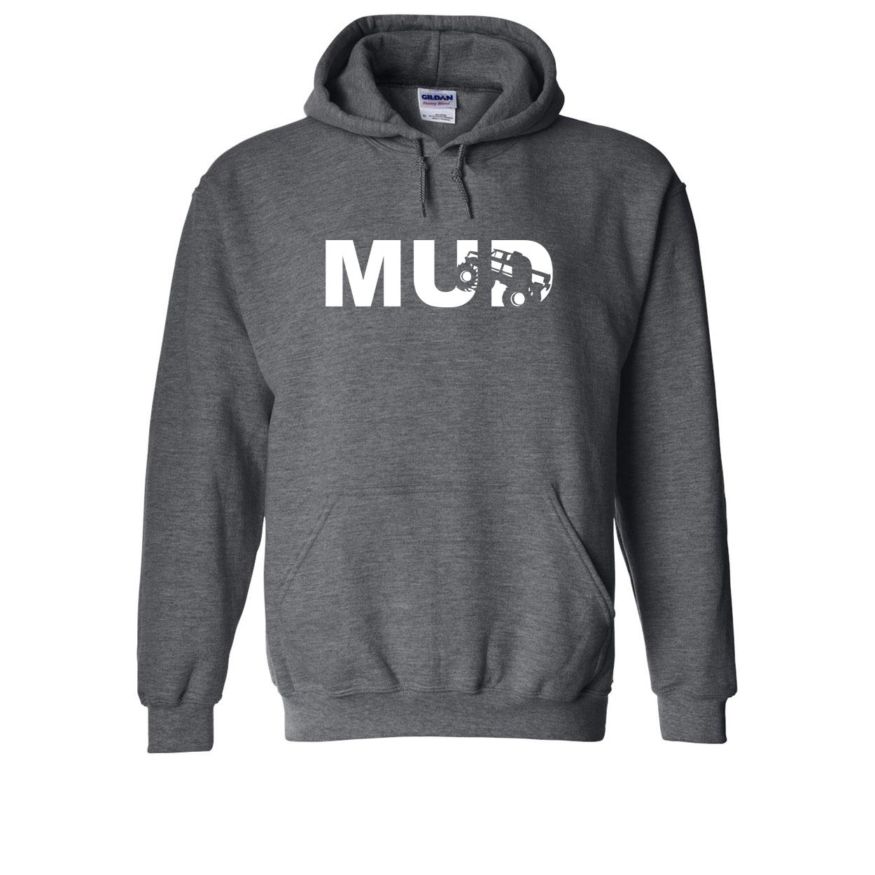 Mud Truck Logo Classic Sweatshirt Dark Heather Gray (White Logo)