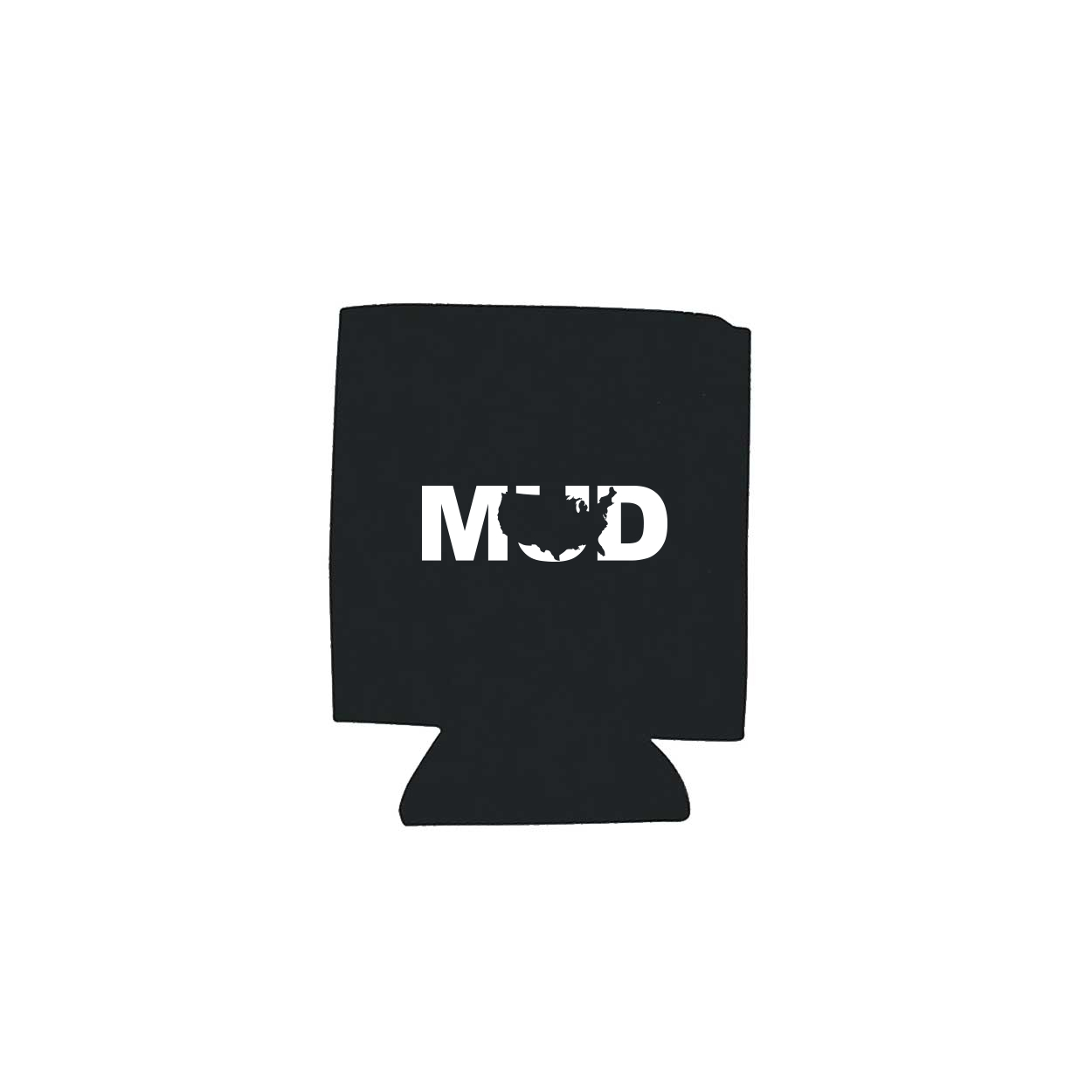 Mud United States Koozie Black (White Logo)
