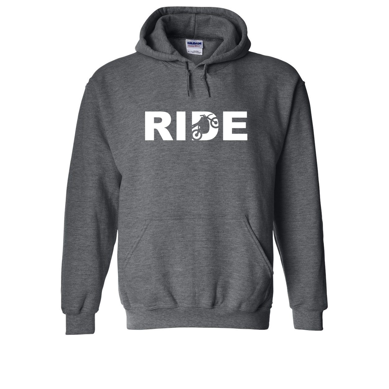 Ride Moto Logo Classic Sweatshirt Dark Heather Gray (White Logo)