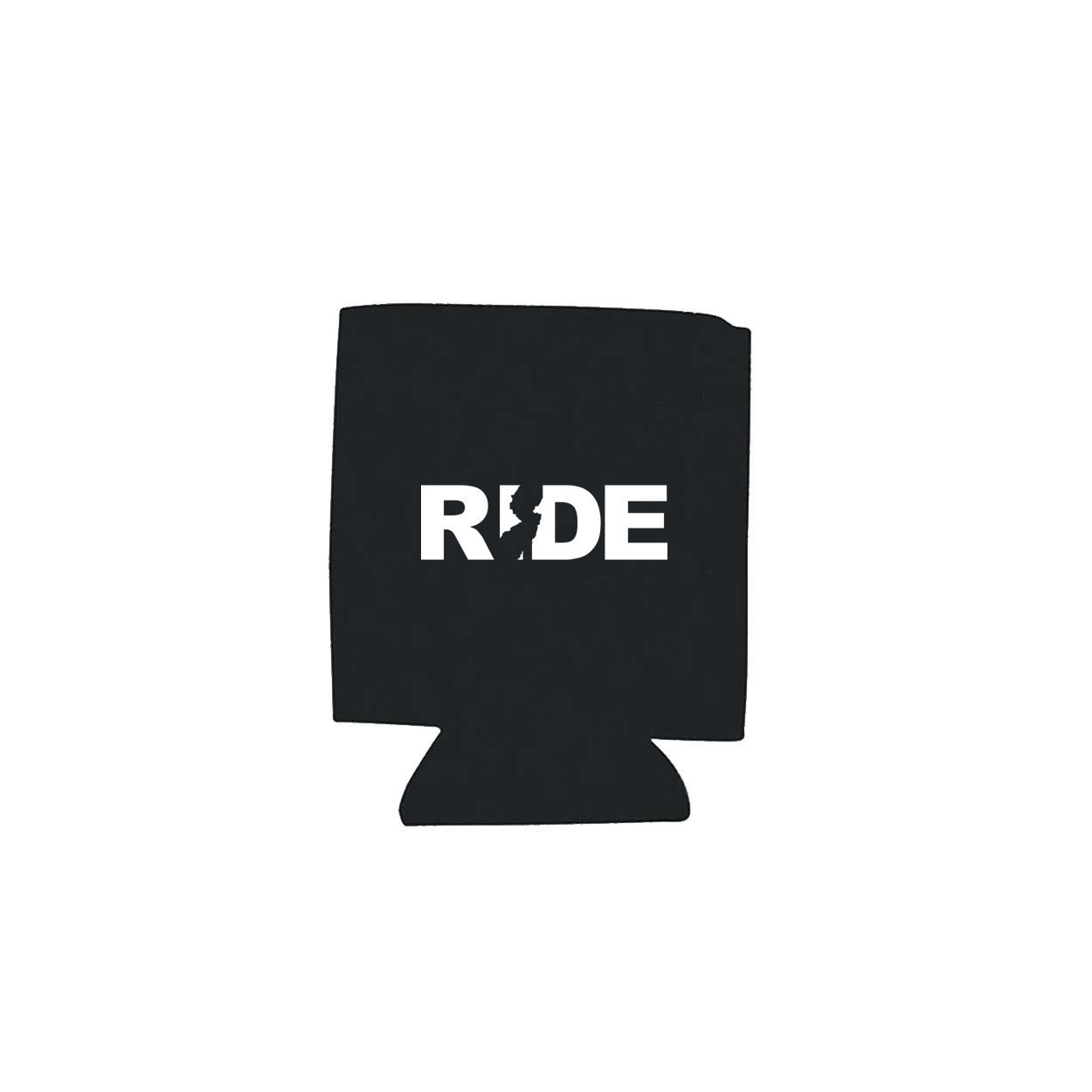 Ride New Jersey Koozie Black (White Logo)