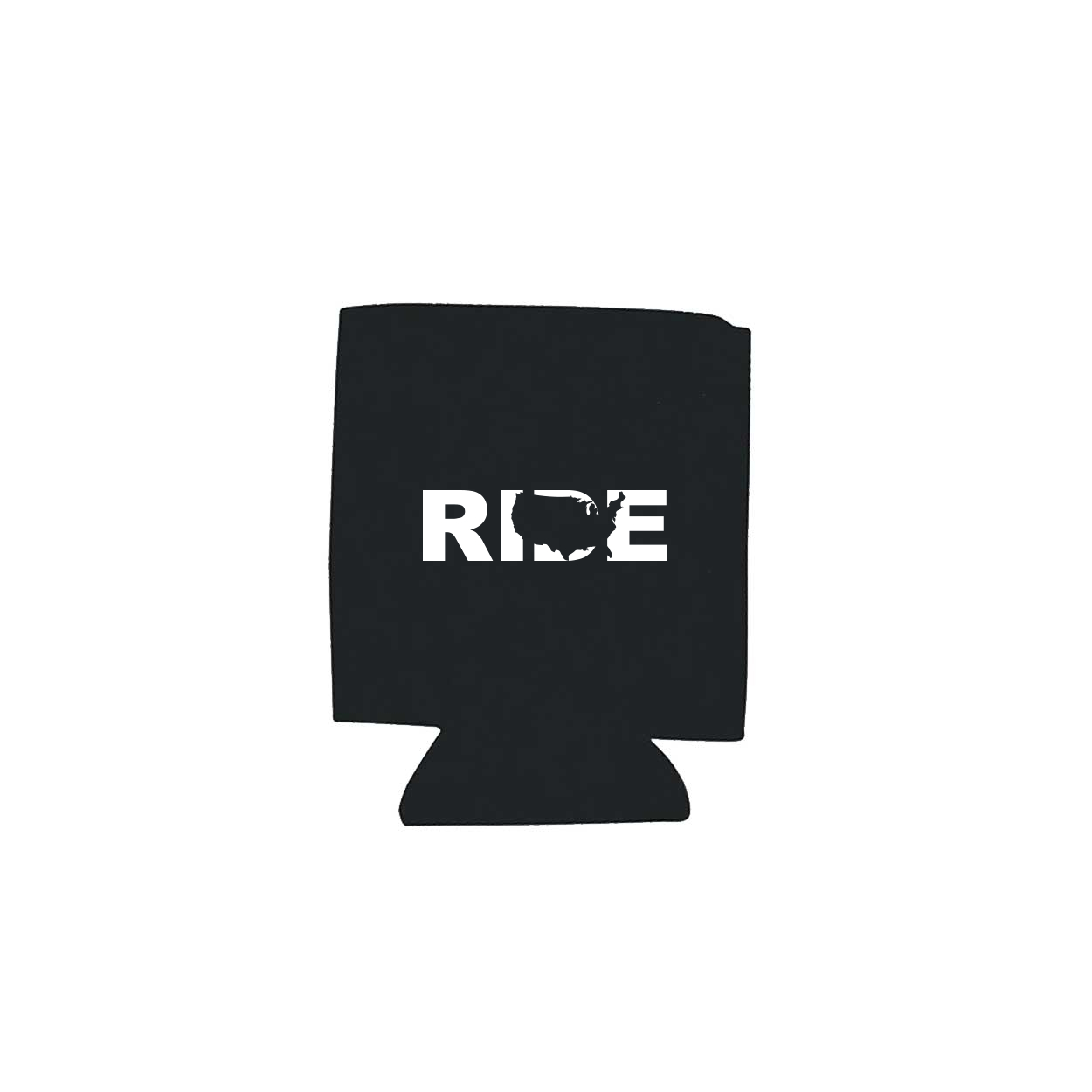 Ride United States Koozie Black (White Logo)