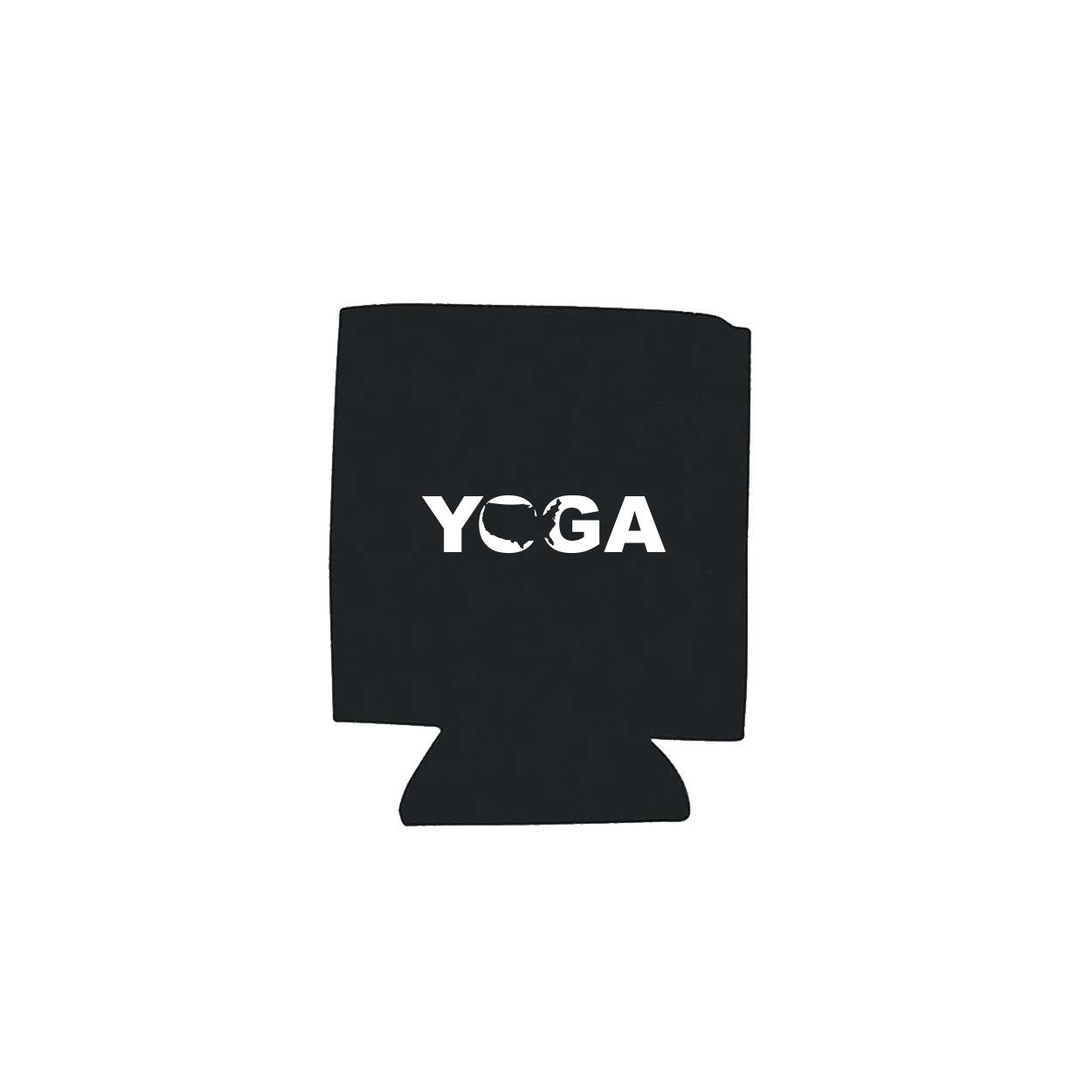 Yoga United States Koozie Black (White Logo)
